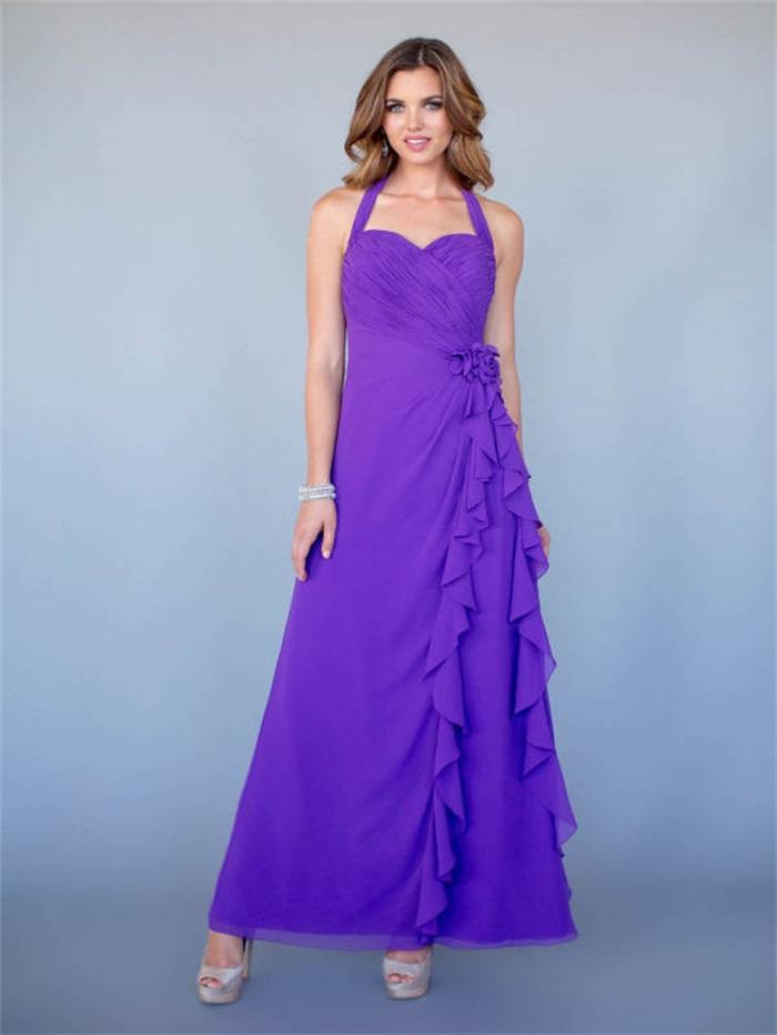 Online Get Cheap Púrpura Vestidos De Dama De Honor Larga ...