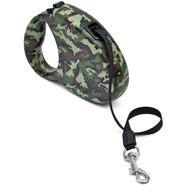 Retractable Auto Dog Leash Camouflage Color Pet Leashes Puppy Dog Cat Leash 3M Pet Chain Less Supplies Animal Leashes