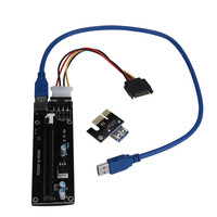 Best Price PCI-E Express Powered Riser Card W USB 3.0 extender Cable 1x to 16x Monero