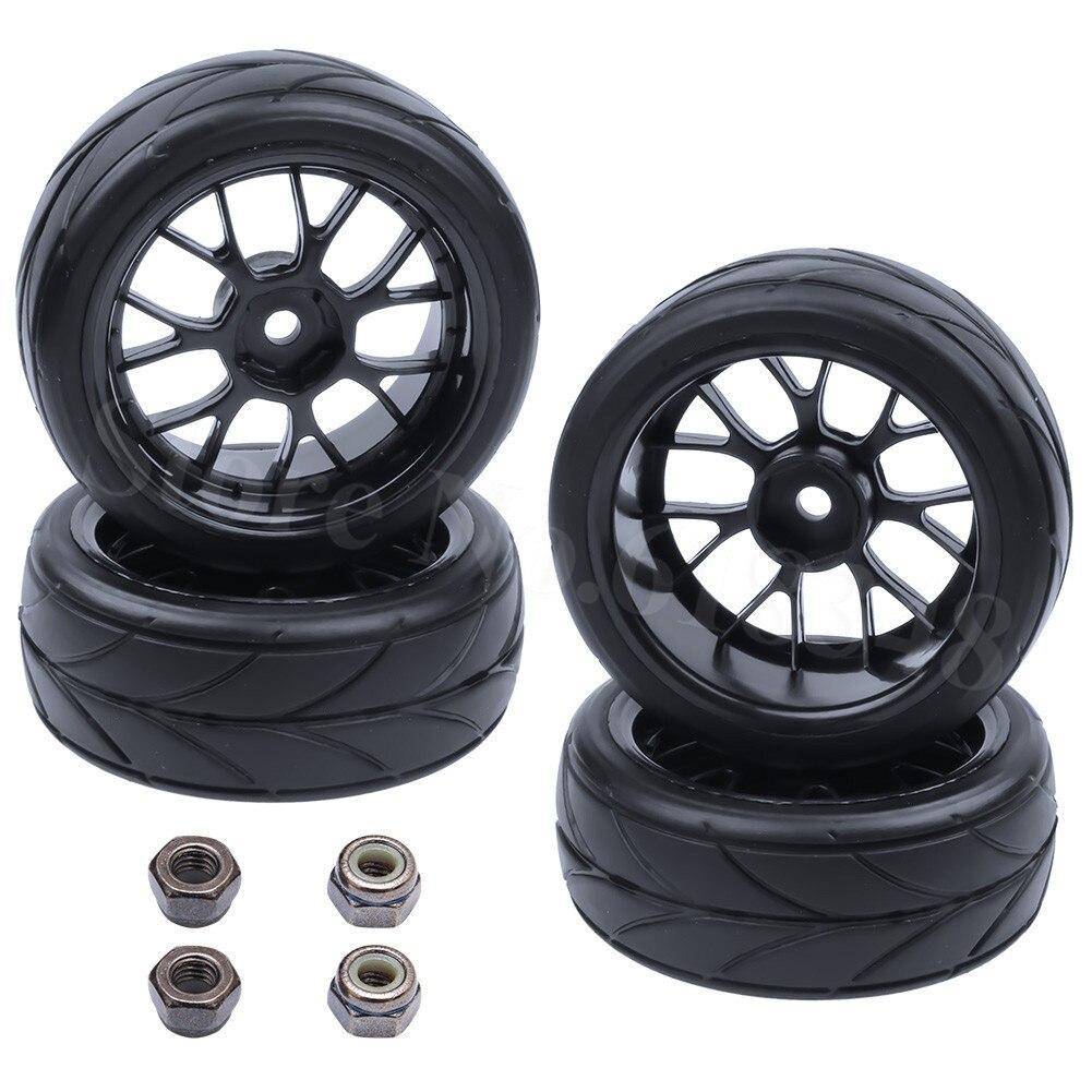 4 Unids / lote RC Neumáticos Ruedas 26mm Hexagonal 12mm Con Nylon - Juguetes con control remoto - foto 4