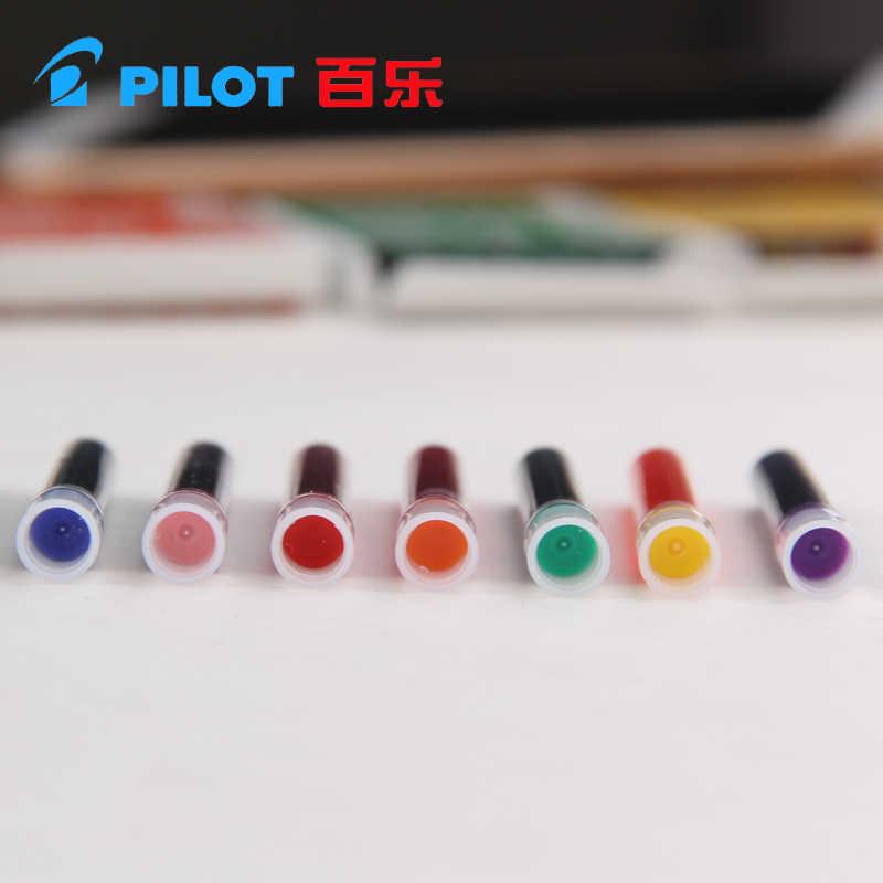 パイロットアートペンパラレルペン 12 色インク嚢インクカートリッジ ICP3 irfp 6 s ブラックブルー赤 brwon 黄色グリーン 6/12 個 1 ピース