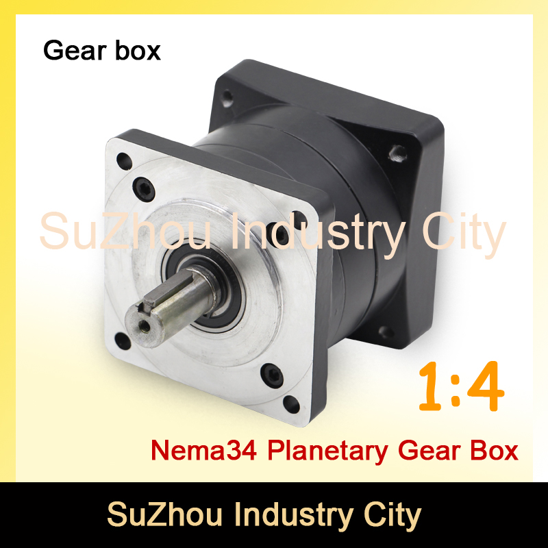 1:4 Nema34 stepper Motor Planetary Reduction Ratio 4:1 planet gearbox 86 motor speed reducer, High Torque high quality !! цена и фото