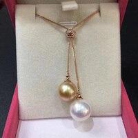 Sinya Edison золотой и белый жемчуг свитер цепи 18 К золото алмаз ожерелье для женщин lover Mum 2018 новости цепи цвет дополнительно
