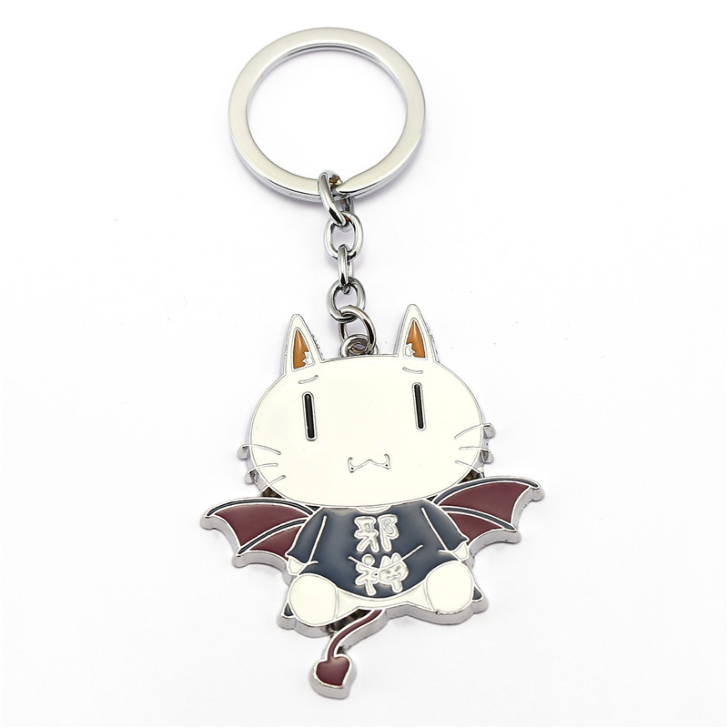 ORNAPEADIA Anime Cartoon products GONZO with white cats and key chains pendant for gril gift wholesale