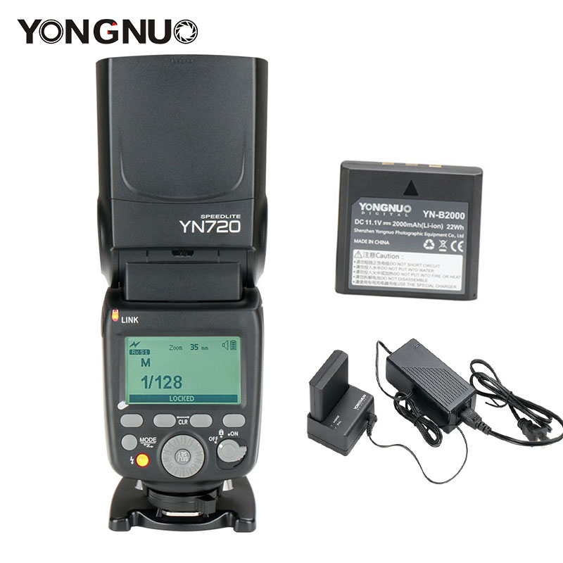 YONGNUO YN720 Flash Speedlite with YN-B2000 Lithium Battery Wireless Flash for Canon Nikon Pentax Olympus DSLR cameras YN602/603 цена