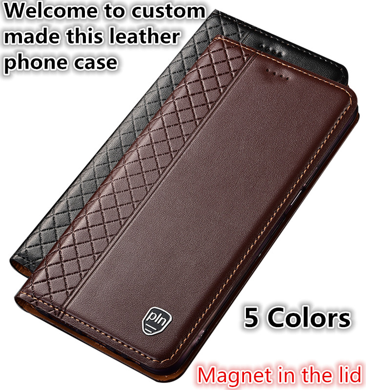 TZ14 Genuine leather phone bag with card holder for Asus ZenFone Max Pro M2 ZB631KL phone