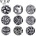 V YA Christmas's Beads fit for Pandora Necklaces Bracelets DIY Gifts for Man Woman Jewelry Unique Charms for Children