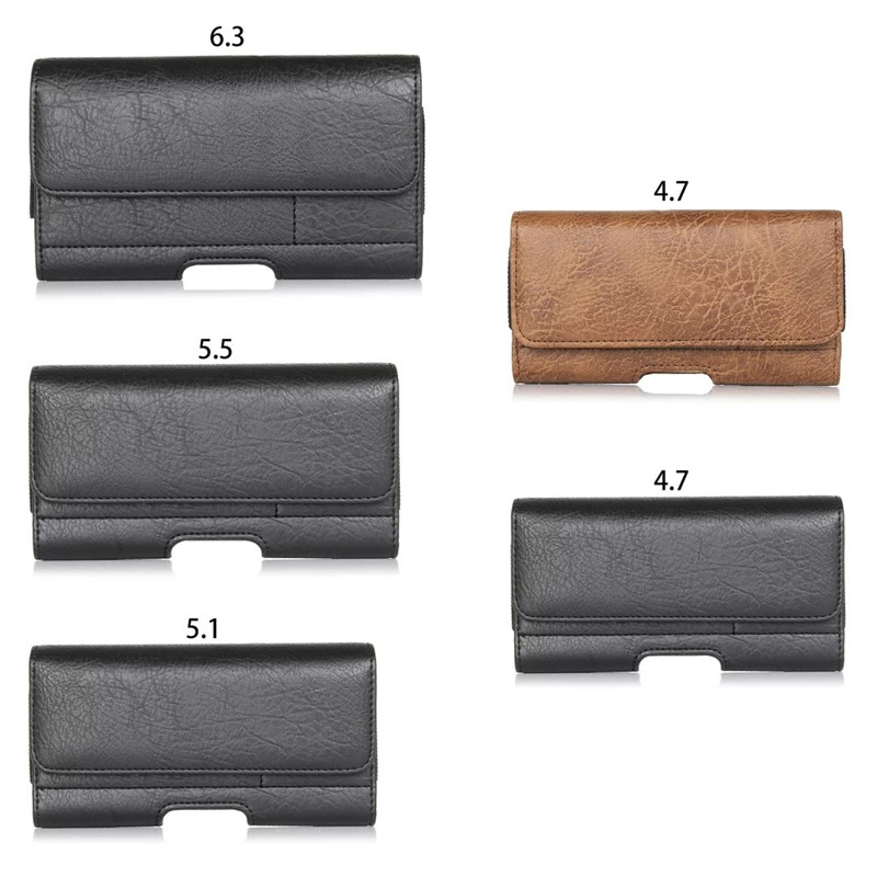Hot Sale For Apple Iphone 4 4S 5 5S 5C 6 6S 7 7Plus with Royal PU Leather Wallet Phone Bag Bumbag Phone Case 2 Color