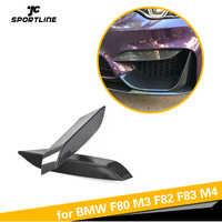 Carbon Fiber Front Bumper Nebel Lichter Ecke Splitter Abdeckungen Trim für BMW F80 M3 F82 F83 M4 4 Tür 2 tür 2014-2018