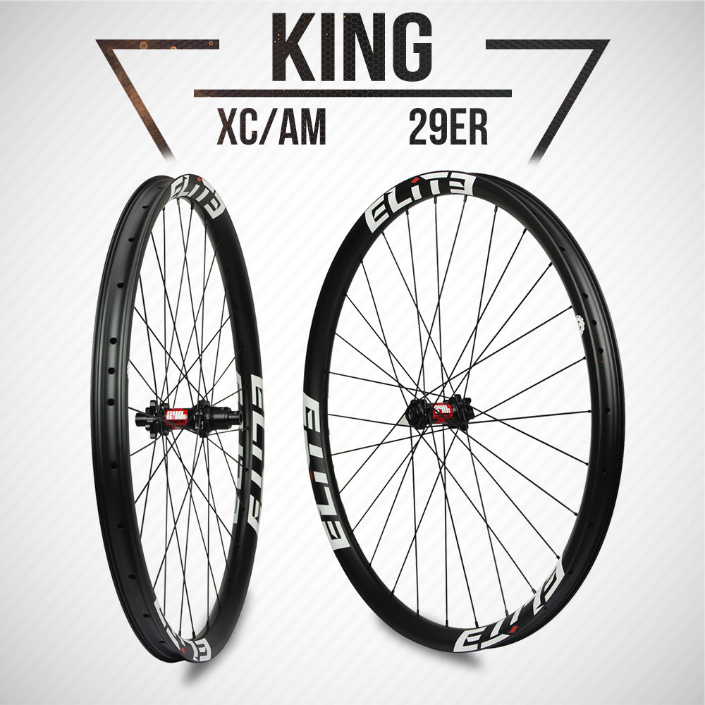ELITE DT Swiss 240 Series MTB Wheelset 1310g XC / AM Mountain Wheel 33mm Width Super Light Weight With Free Wheel Bag