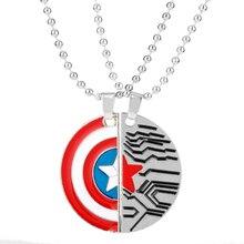Ожерелье с подвеской «мстители», «Капитан США», «Щит», ожерелье для женщин, влюбленных пар, подвеска, чокер, ювелирные изделия, ожерелья для ...