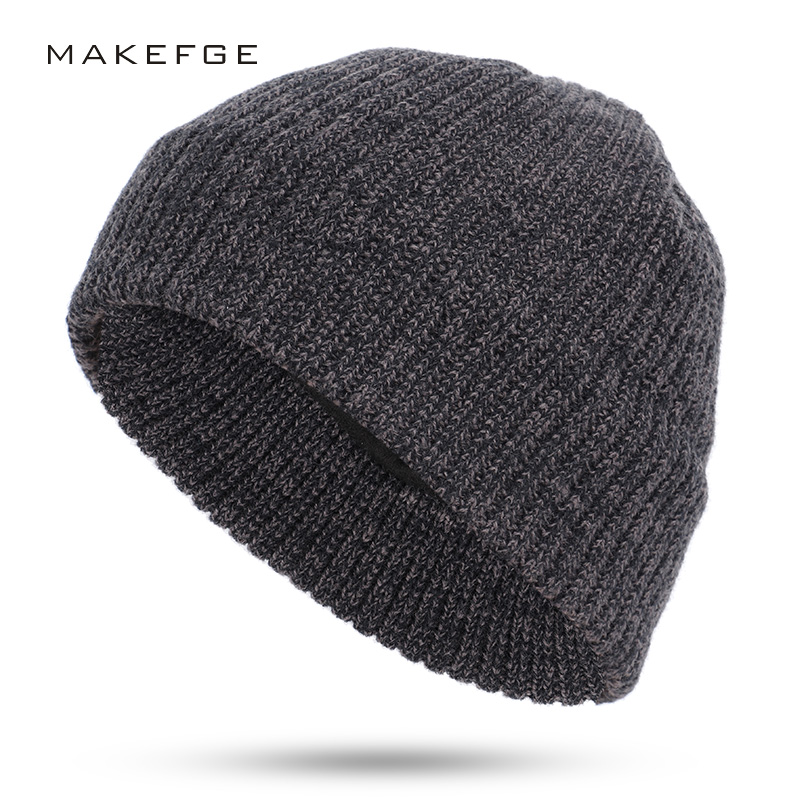 Autumn And Winter Men's Knitted Cotton Hats Warm And Comfortable Ladies Ski Unisex Variegated Fashion Skull Caps Women Beanies