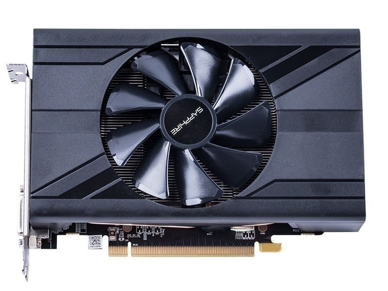 Utilisé. saphir RX470D 4G D5 DDR5 PCI Express 3.0 ordinateur ITX carte graphique HDMI DP DVI