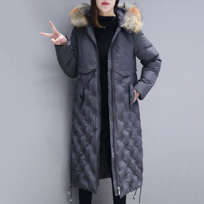 New Winter Jacket Coat Women Colored Fur Collar Hooded Cotton-Padded Jacket Parka Casual Plus Size Thickened Warm Outerwear W61 men s winter coat hooded outerwear warm fleece jacket plus size m 5xl4 colors warm faux fur liner cotton jacket
