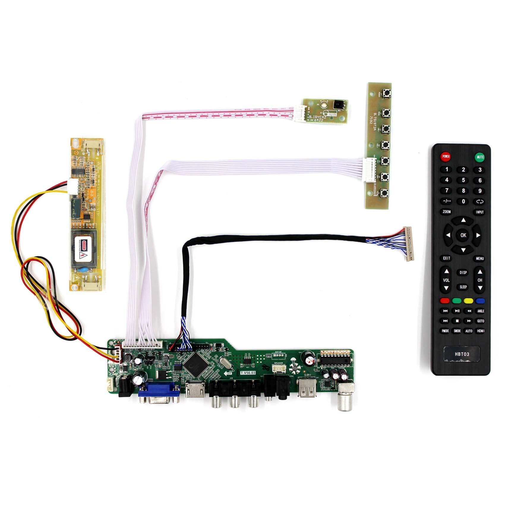 HDMI USB AV VGA ATV LCD Controller Driver Board For B154EW01 1280x800 LCD Screen