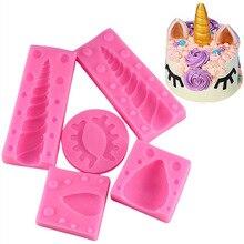GODWJ Unicorn 5 Pieces Set Fondant Cake Silicone Soap