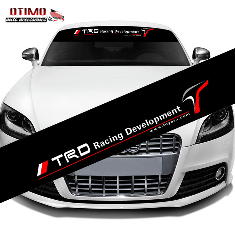 Auto Center Front Royal >> Aliexpress.com : Buy Car Styling TRD Racing Development Sports Front Windshield Car Stickers ...