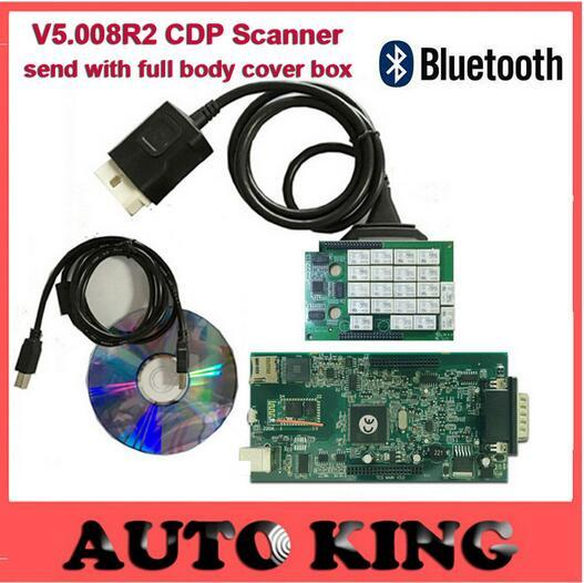 Newest v5.008R2 keygen Wo cdp With Bluetooth OBD ODB2 Diagnostic Tools TCS cdp pro plus Scan Tool For CAR and TURCK SCANner