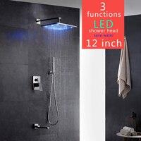 Contemporary Bathtub Faucet Big Rain Shower Bathroom Shower Set Gappo Grifo Ducha Colonne De Douche