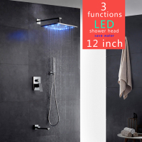 Contemporary Bathtub Faucet Big Rain Shower Bathroom Shower Set Gappo Grifo Ducha Colonne De Douche
