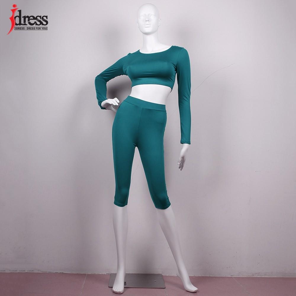 IDress Women Two Piece Bodycon Jumpsuit Playsuit New 2016 Summer Knee Length Black Bodysuit Sexy Club Elegant Rompers Womens Jumpsuit (6)