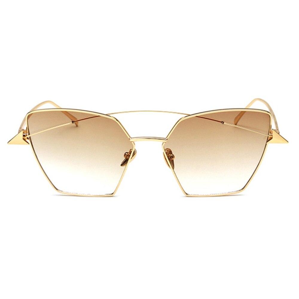 Double Arrow Design Women Sunglasses 2018 Fashion Female Metal Frame Sunglasses UV400 Protective Travel Shopping Eyewear