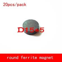 20PCS D15*5mm work temperature -40 to +220 Celsius permanent round ferrite magnet magnets