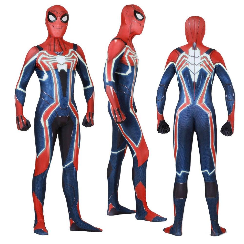 Halloween Saints' All Hallows' Day velocity suit spider man Cosplay Zentai Costume tights jumpsuit adults/children/kids
