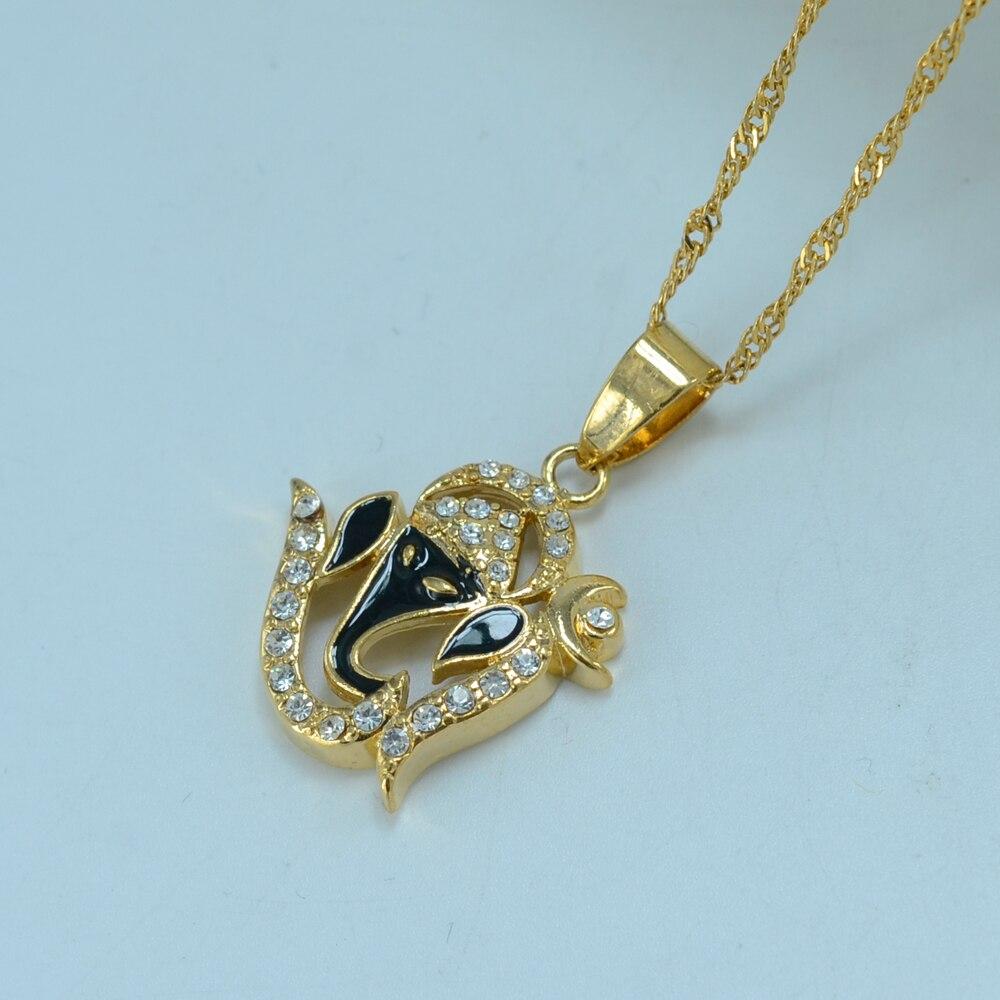 Anniyo India Yoga Necklace Pendant Women OHM Hindu Buddhist AUM OM Hinduism Jewelry Indian Religious Symbol #000210