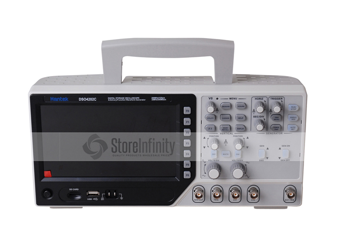 Hantek DSO4202C 2 Channel Digital Oscilloscope 1 Channel Arbitrary/Function Waveform Generator 200MHz 40K 1GS/s осциллограф dhl hantek mso5102d 100 1gs s 16 2