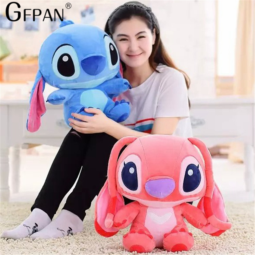 Huge Size 80cm Lovely Stitch Plush Doll Anime Lilo and Stitch Cute Stich Stuffed Cartoon Toys for Children Kids Birthday Gift - 2