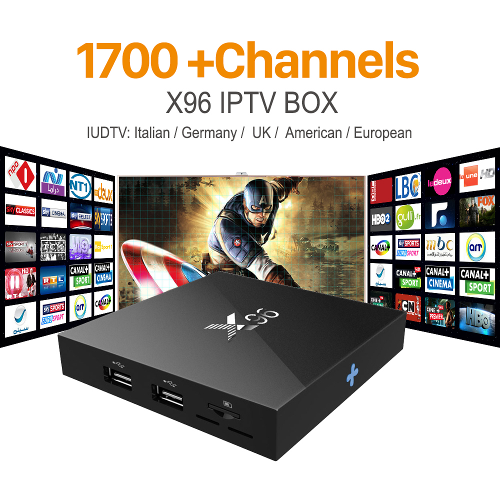 Últimas X96 S905X Amlogic Quad Core Android 6.0 TV BOX iptv 2G/16G KODI 16.1 4 K Inteligente Android Tv box M8s PK T95 Set Top Box X96