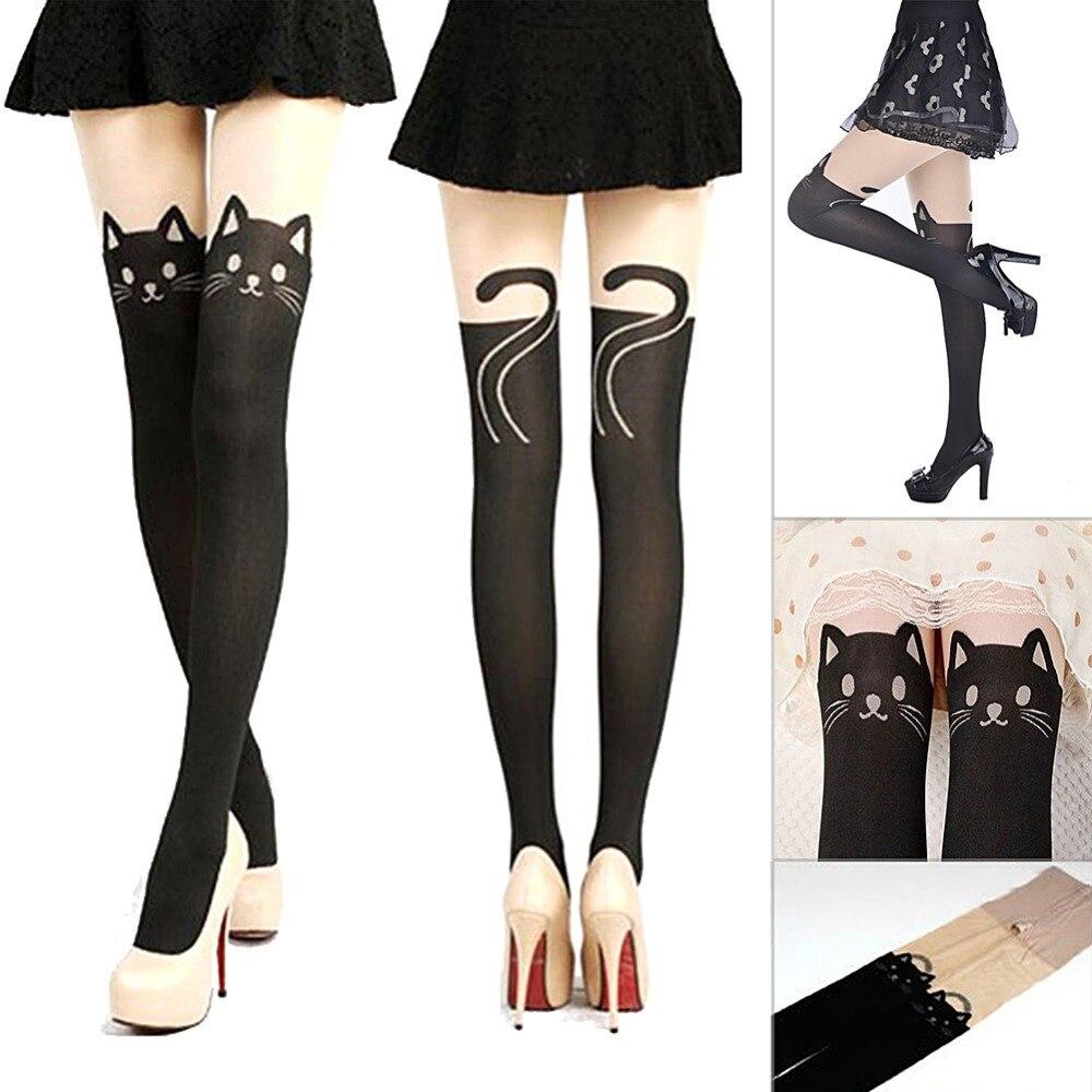 New Hot Sexy Stockings Women Cute Bear Pattern Leggings Female Catoon Stocking Sexy Sheer Pantyhose Stockings Long Sexy Stocking
