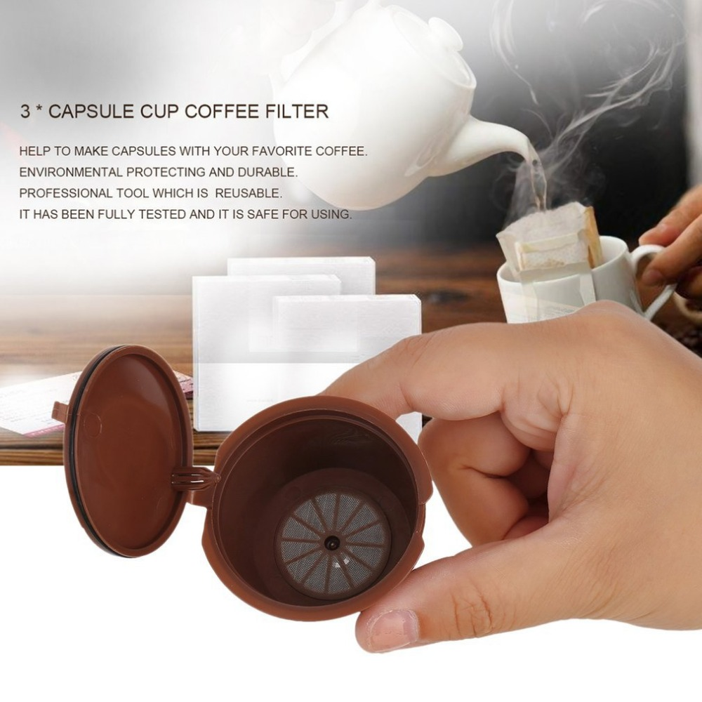 Reusable Capsule Coffee Filter Stainless Steel Mesh Coffee Basket Coffee Maker Professional Kitchen Accessories Filter Cup in Coffee Makers from Home Appliances