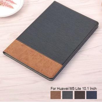 """Magnete Caso Del Basamento Per Huawei MediaPad M5 lite 10 BAH2-W19/L09/W09 10.1 """"Tablet Caso di Alta Quatity copertura di cuoio di Vibrazione Intelligente Funda"""