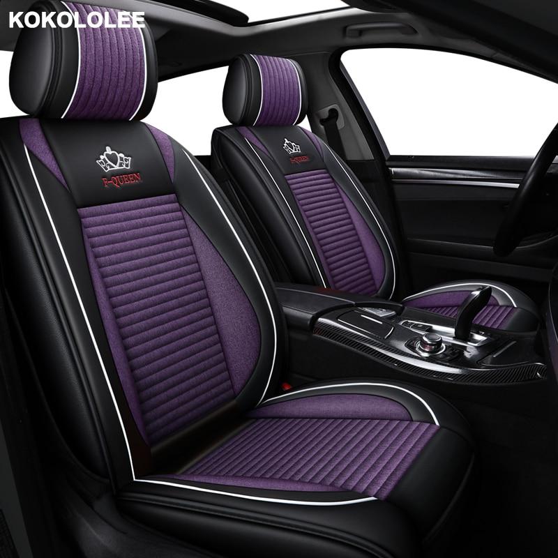 KOKOLOLEE housse de siège de voiture en lin pour lincoln mks mkx mkc mkz saab 93 95 97 2013 2012 2011 2010 accessoires de voiture style voiture