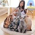 50/75 см Оптовая 2017 Новый Стиль Искусственный Кошка Плюшевые Игрушки 3D Печати Кошка Подушка Подушки Ткань Кукла Рождения подарок ребенку