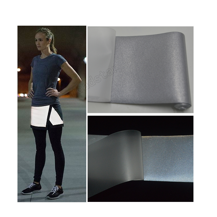 High Quality Single Side Reflective Elastic Fabric With Silver Color Free Shipping