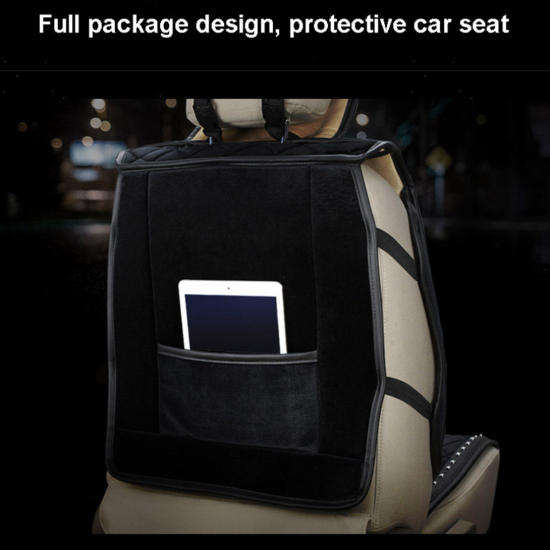 Image 4 - Full Diamond Rhinestone Car Seat Covers Universal Sets Winter Plush Fur Auto Seat Cushion Crystal Interior AccessoriesAutomobiles Seat Covers   -