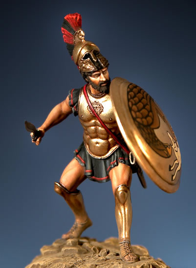 Assembly Unpainted Scale 1/32 54mm Greek ancient standing 54mm Historical toy Resin Model Miniature Kit