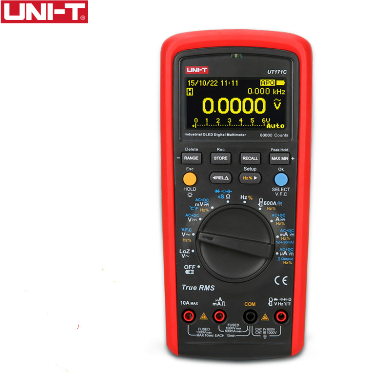 UNI-T UT171C Industrial True RMS Digital Multimeters Admittance/Resistance Tester