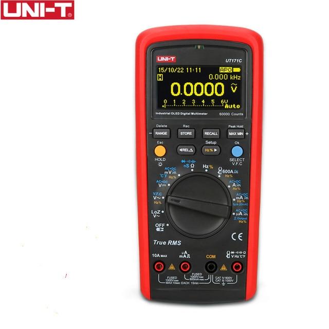 UNI T UT171C Промышленный Цифровой мультиметр True RMS, прибор для проверки сопротивления