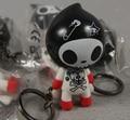 1pcs Mini tokidoki Adios rock skeleton Key Chain.7cm.Rubber Flavour Bulk rocking elf doll.Funny Educational toy