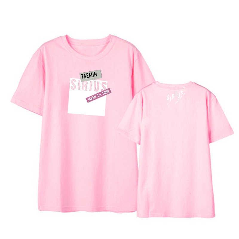 ONGSEONG Kpop SHINee Taemin Japan 1st TOUR SIRIUS Album Shirts Casual Loose  Tshirt T Shirt Short Sleeve Tops T-shirt DX846
