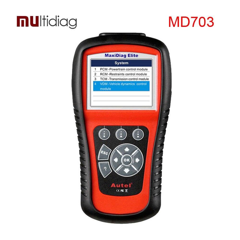 Autel MaxiDiag Elite MD703 font b Car b font Diagnostic Scan Tool OBD2 Auto Code Scanner