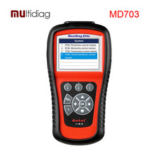 De Autel MaxiDiag MD703 Elite Herramienta de Análisis de Diagnóstico Del Coche OBD2 Código Auto Del Explorador 4 Sistemas Básicos (Motor, transmisión, ABS y Airbag)