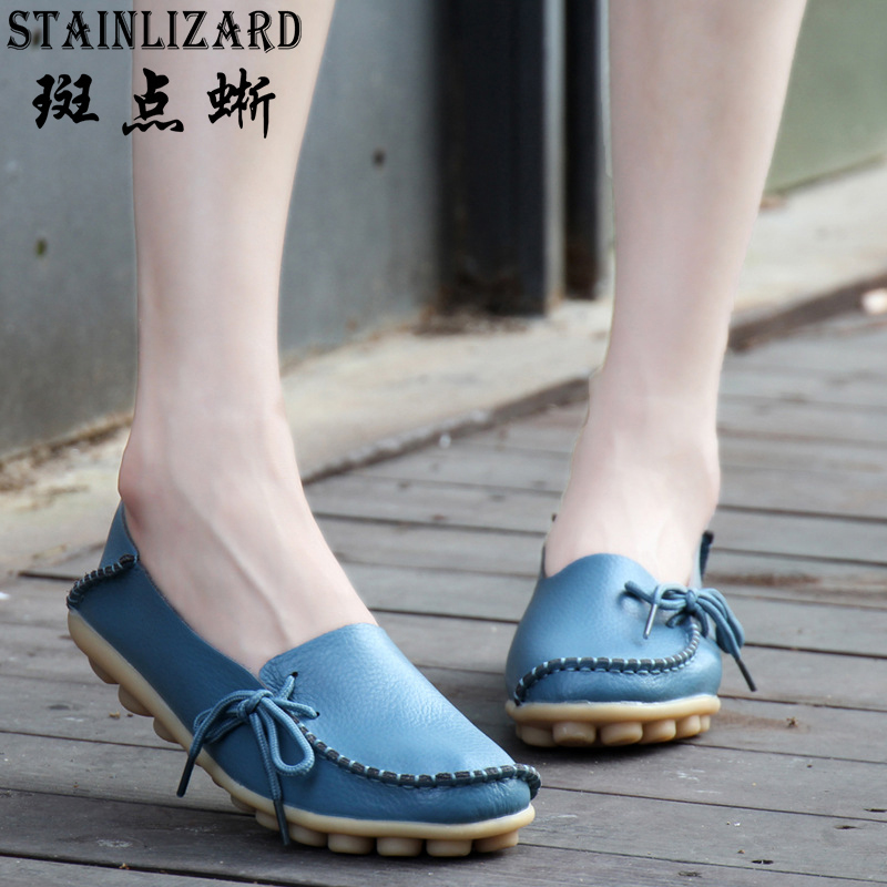2017 New Fashion Women Flat Shoes Female Casual Soft Mother Comfortable Loafers casual women Shoes Zapatos Mujer Wholesale FT17 купить