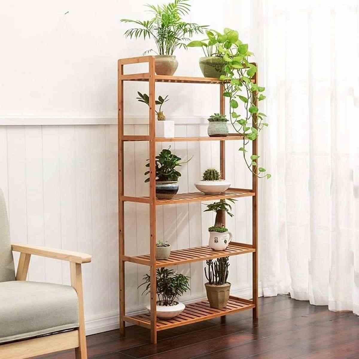 5/4/3 層モダンな装飾植物花棚スタンド収納ラック竹多機能ガーデン浴室キッチンリビングルーム