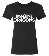 2016 IMAGINE DRAGONS print funny Tshirt Women summer Cotton Casual punk slim tops tee fashion brand harajuku cute female t-shirt