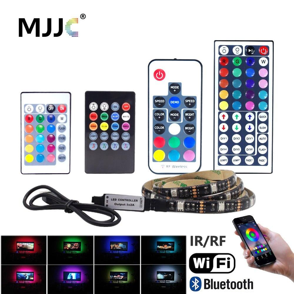 LED Strip Light Bluetooth USB 5V Tira LED RGB Tape Ambilight TV Wifi Waterproof SMD 5050 Music TV Background Flexible Stripe